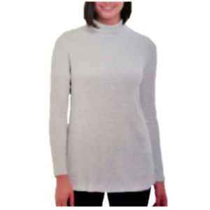 Jones New York Women's Long Sleeve Scrunched Neck